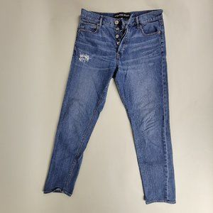 EXPRESS Vintage Skinny Ankle HIGHRISE Distressed Jeans size 4